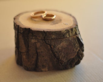 ring bearer pillow • red oak wood box  • ring box • wooden box