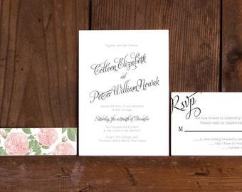Calligraphy Love Wedding Invitation,Modern Calligraphy Wedding Invites,Cottage Chic Calligraphy Wedding Invitations,Rustic Calligraphy