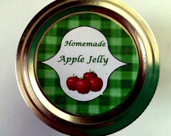 Canning Jar Apple Jelly Label -  PDF handmade tag  - Mason Jar Label - CanningJar Tag  -  Christmas  Gift  Tag