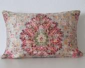 Sariz Sugarcane distressed velvet persian medallion damask decorative pillow cover