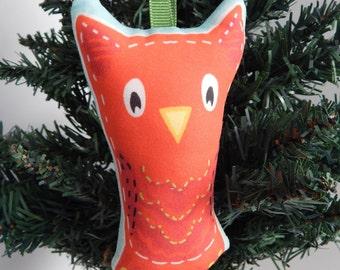 Owl Christmas Ornament Mid Century Style
