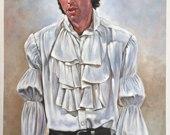 "Seinfeld Jerry Seinfeld puffy shirt painting, 24x36"", 100% money-back guarantee"