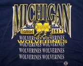 Michigan Wolverines T-shirt, College University, Mascot, Vintage 90s