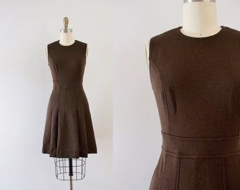 1960s College Bound canadian wool dress / 60s matching jacket