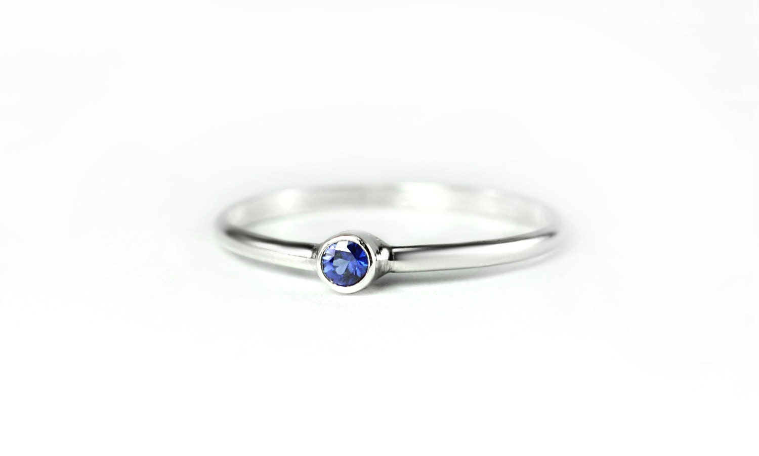 simple aaa blue sapphire ring sterling silver 14k yellow