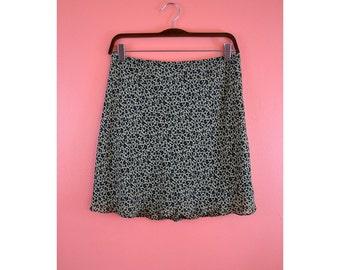 VTG 90s DKNY Floral Skater Skirt - Size 8