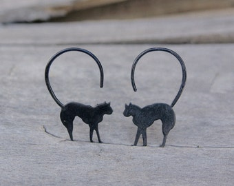 Lucky Black Cat Earrings