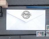 Baseball Return Address Stamp   Custom Family Stamp   Personalized Address Stamper   Self Inking   Wood Mounted Rubber Stamp