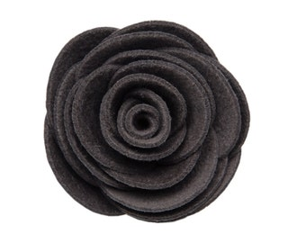 Gray Kitty Corsage - Ultrasuede® Removable Collar Flower