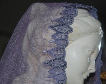 Saint Seraphina Violet Mantilla