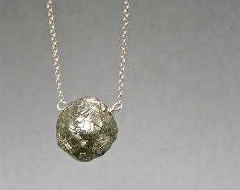 Pyrite Pendant Necklace in Sterling