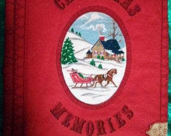 Handmade, fabric book, Christmas Memories.