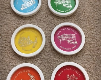 Vintage San Francisco Drink Coaster Set