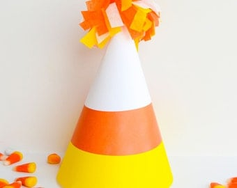Candy Corn PRINTABLE Party Hat (INSTANT DOWNLOAD) by Love The Day