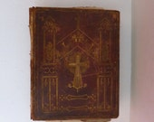 TATTERED TOME Antique Life of Christ 1844