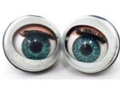 5 pairs , 10 pcs. doll making sleepy Winking flirty blinking metal blue eyes 15mm