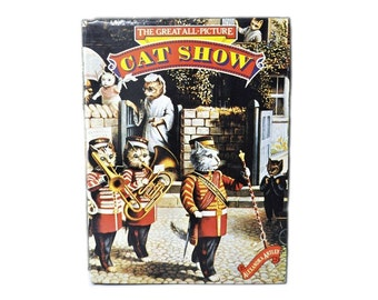 1977 Hardback with Dust Jacket. Book. The Great All-Picture Cat Show, by Alexandra Artley. Louis Wain. 1970s.