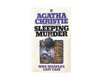 1978 Fontana Paperback. Sleeping Murder, by Agatha Christie. Tom Adams Illustration. Miss Marple. Book. Books. Mystery Crime Thriller.