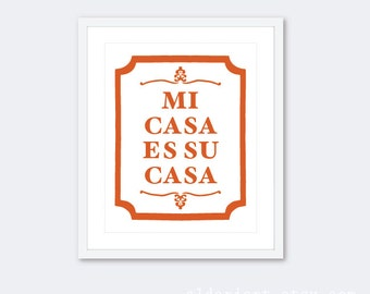 mi casa su casa sign etsy. Black Bedroom Furniture Sets. Home Design Ideas