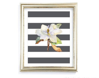 Magnolia Flower Art Print - Magnolia Wall Art - Watercolor Magnolia Art - Home Decor  - Aldari Art