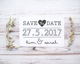 Save the Date Rubber Stamp , DIY Bride Wedding Invitation , Engagement , Make Your Own Save the Dates