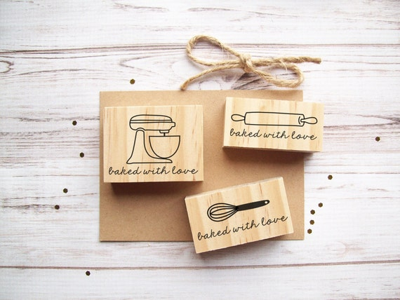 Baked with Love Stamp- Whisk, Mixer, or Rolling Pin