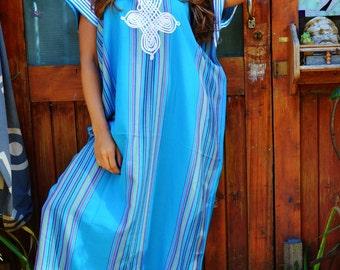 Caftan Kaftan Loungewear Turquoise-Perfect as loungewear, as beachwear, as spa robe, Valentine's day, Birthday & Honeymoon gifts