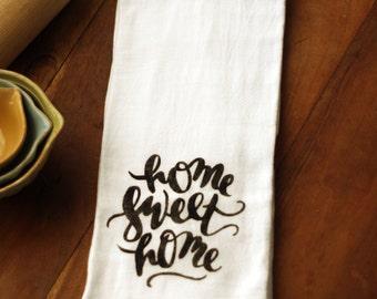 Kitchen Towel with Word Art - Choose Your Design - Flour Sack Kitchen Towel