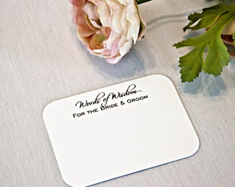 Words of Wisdom Wedding Advice Cards / Love Notes - Lovely; bride and groom newlyweds well wishes guestb bridal shower marriage advice