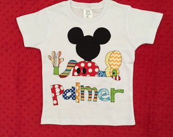 Mickey Mouse Clubhouse Shirt - boy Disney colors - personalized