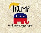 Make America Great Again Trump Republican SVG cutting file