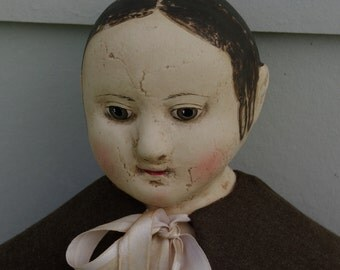 The Little Hamptons reproduction of Eliza an antique Izannah Walker doll. by Lynda Hampton