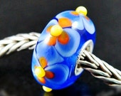 Fun Flower fits Trollbeads Small Core European Charm Bead BHB SRA