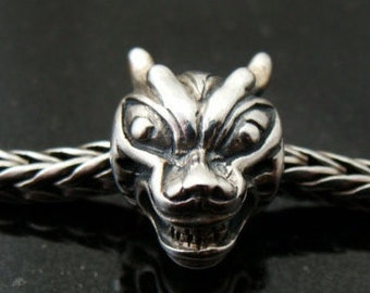 Dragon Sterling Euro Charm fits Trollbeads and all Systems BHB