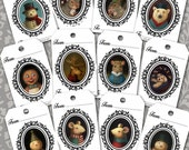 Christmas Gift Tags - Christmas Gift Cards  - Snowman - Squirrel - Reindeer - Dog - Gingerbread - Mouse - Polar Bear