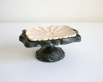Silver Footed Soap Dish