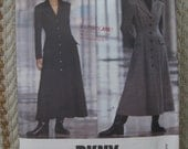 Vogue American Designer DKNY Size 8-10-12 Jacket Dress Pattern 1054