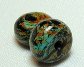Handmade Faux Turquoise Bead Set of Two