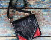 NEW Leather Travel Bag Cross Body Shoulder Bag for Camera Accessories Messenger Black Leather Red