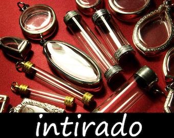 Terrarium Necklace Kit, Wholesale Pendant Blanks, Craft Supplies, Reliquary, Clear Locket, Shadow Box, Container Supplies, 25pcs Intirado