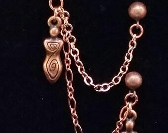 jewelry, earrings, cartilage earrings, cartilage earring, dangle & drop earrings, goddess, goddess earrings, fertility goddess