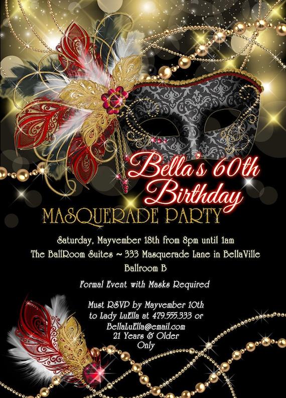 masquerade party invitation mardi gras party mis quince