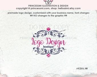 1255-10  Damask Logo Design / Photography Logo boutique logo Frame watermark template by princessmi design