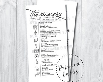 Printed Modern Black and White Timeline with Welcome Letter - SET OF 25