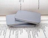 40ml sliding lid tins, rectangular metal tins, silver color, flat business card box, (1 tin box)