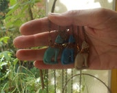 Ancient Egyptian Bastet necklace in turquoise, Nile green, sand color or in black  - Seated Cat Goddess - Dea Egiziana Bastet