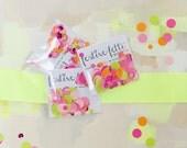 Neon Confetti - festive-fetti™ Party Confetti in a Bag with Custom Wording / Toss Confetti / Confetti as Decor