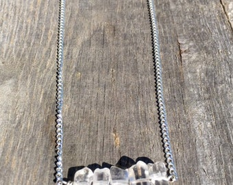 White Crystals necklace