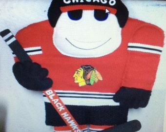 Chicago Black Hawks Hockey Player