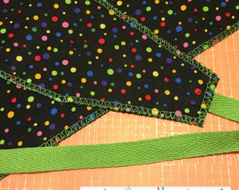 Free Shipping to the US** CrossFit Wrist Wrap Set - Rainbow polka dots